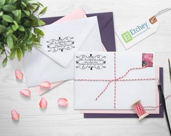 Custom Rubber Stamp, Self Inking Stamp, Custom Return Address Stamp, Self Ink Return Address Stamp, --SI-4927-Heartful Family