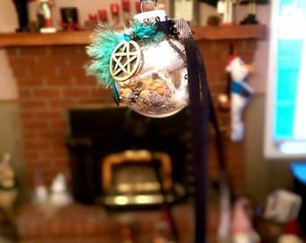 Car Protection Charm ~ Car Protection Witch Ball, Car Protection Talisman, Witch Ball, Rear View Mirror Car Charm