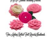 Felt Flower Pattern - PDF Felt Pattern - PDF Tutorial - Felt Roses PDF Tutorial - Felt Rose Headband Tutorial - Felt Rose Pattern.