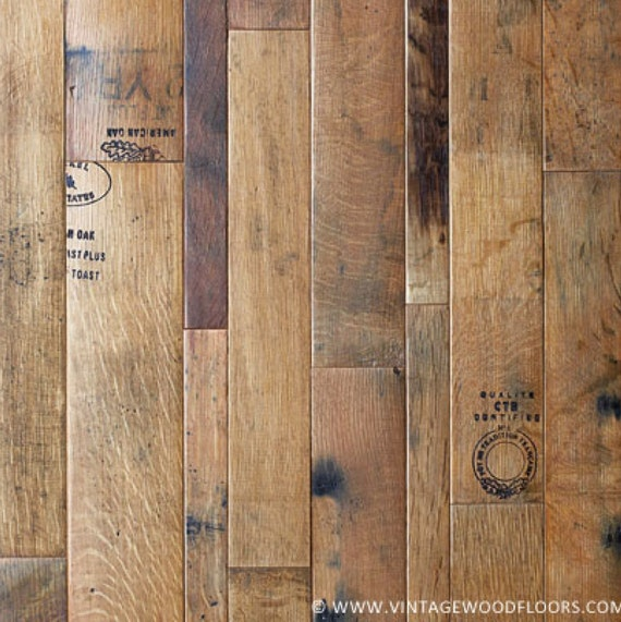 Coopersmark Wine Barrel Flooring from  The Workshop By The Vintage Wood Floor Company