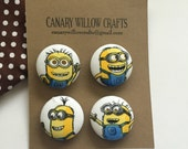 Minion Magnets, Minions, Magnets, Magnet, Refrigerator Magnet, Fabric Covered Magnets, Fridge Magnets, Cubical Space, Minions Swag