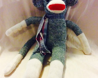 Original Red Heel Sock Monkey - Green