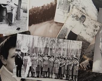 Photo lot - Vintage Soviet Photograph - Set of 16 Vintage photograph - Black and white photos set
