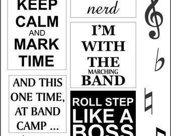 Marching Band Iron On Transfers Instant Download Printable