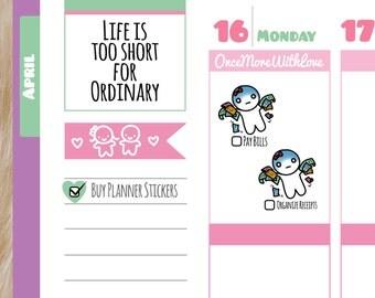 Munchkins - Pay Bills or Organize Receipts Planner Stickers