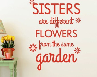 Sisters - Vinyl Wall Decal Quote