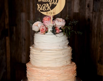 To the Moon and Back Wedding Cake Topper Custom Personalized Cake Topper