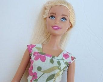 Barbie Clothes, Barbie Dress, Flowered Dress, kayleesboutique03
