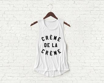 Creme De La Creme - Womens Muscle Tank - White