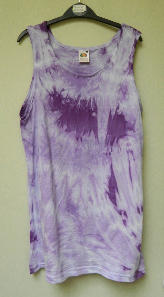 Tie dye acid wash vest top sleeveless t shirt hipster festival for Tie dye sleeveless shirts