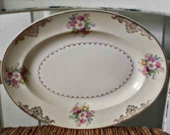 Vintage China Platter The Paden City Pottery Co Vintage Serving Plate