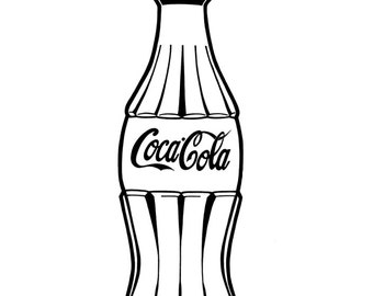 Coca Cola bottle - Hand-drawn illustration print