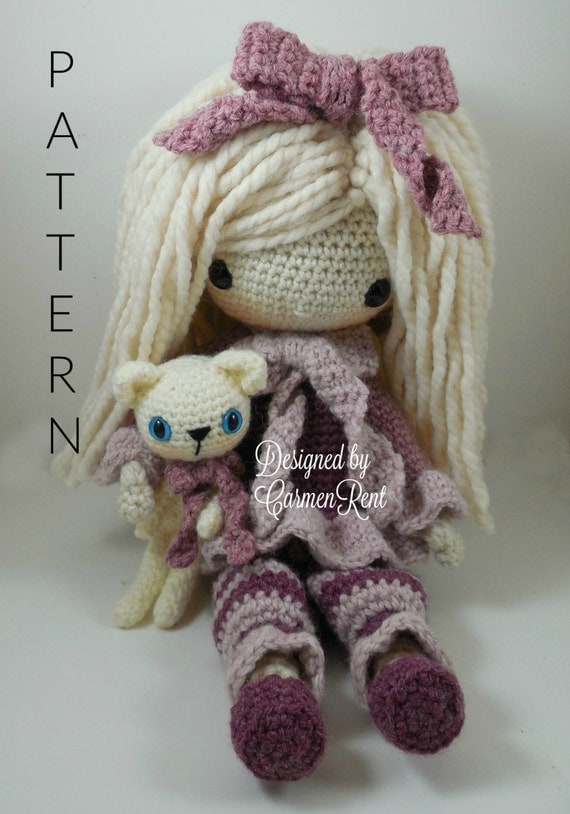Amigurumi Square Doll : February Amigurumi Doll Crochet Pattern