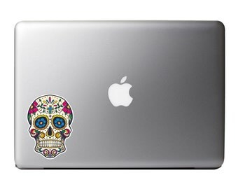 Sugar skull sticker #4 - Macbook vinyl decal