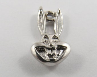 Smiling Face of Bugs Bunny  Silver Charm of Pendant.