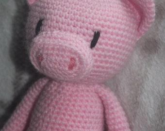 Crochet Percy pig