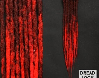 Hot Red Dreadlocks Dreads SE 10-100 Pieces