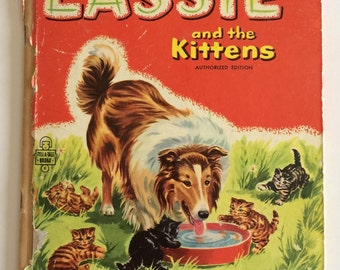 1956 Lassie and the Kittens Whitman Child's Story Book