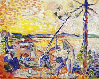 Henri Matisse Fine Art Reproduction, Yellow Orange Modern Abstract Art  Print, Sunset, Home
