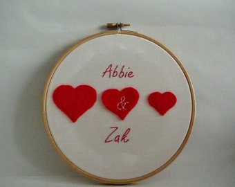 PERSONALIZED Embroidery Hoop Valentine's GIft