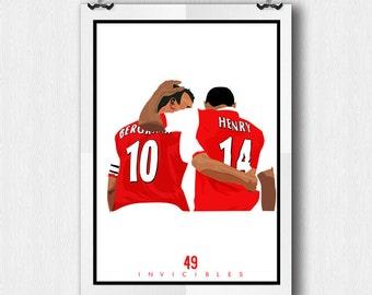 Henry & Bergkamp - Arsenal FC - A4 Poster