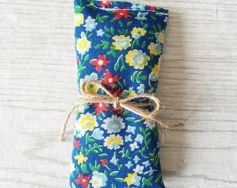 Vintage Fabric Lavender Sachet Organic Lavender Natural Moth Repellent