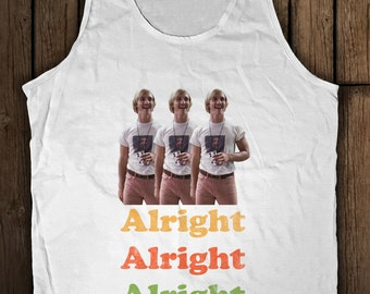 Alright Alright Alright! Dazed and Confused Wooderson Funny Graphic Tank Top T-Shirt