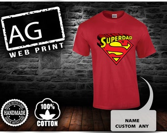 Super Dad TShirt T-Shirt for Men Birthdays, New Dads, Gifts for Him, Gifts for Dads, Fathers Day, Events, Parties, Clubs