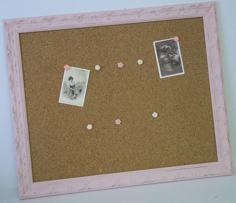 rose pink ornate distressed framed cork or burlap board. Black Bedroom Furniture Sets. Home Design Ideas