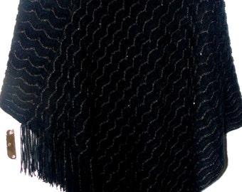 1980s Woollen Poncho
