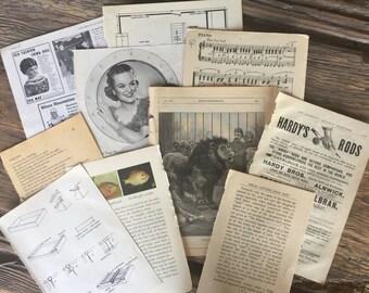 Vintage Paper Ephemera Package