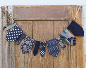 Tie Garland, Nursery Garland, Nursery Decor, Party Garland, Party Decor, Home Decor, Vintage Ties, Masculine Decor, Boy Nursery, Baby Shower