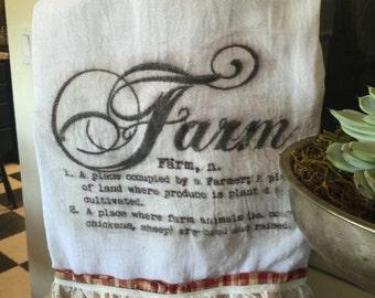 Farmhouse flour sack kitchen towels