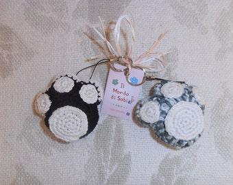 Zack Keychain handmade crochet.