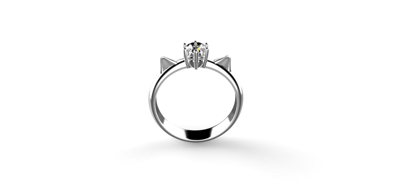 cat engagement ring marine wedding rings Cat Engagement Ring 14k White Gold Cat Ears Engagement Ring 14k Cat Ring Gold Cat Ears Ring Kitten Ring Cats Ring Cat Lover Ring