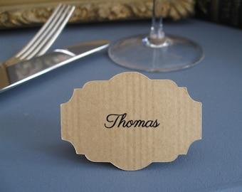 """Etiquette vierge 10 x 17 cm pour plan de table de mariage, forme """"Ticket de Billetterie"""""""
