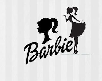 Vintage Barbie Clip art, Barbie SVG, Barbie Silhouette, Barbie head, Barbie decorations, barbie birthday, svg, png, dxf, clipart included