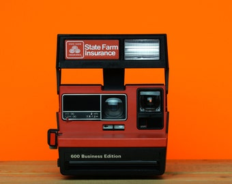 Polaroid 600 Business Edition Instant Camera - State Farm Insurance - Red - *discount Impossible Project Film Pack Offer With This Camera*