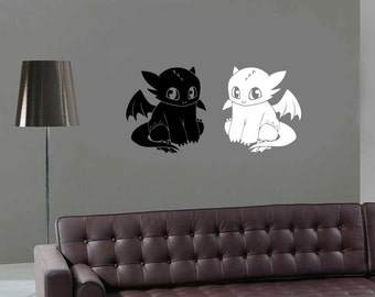 Toothless Decal Etsy