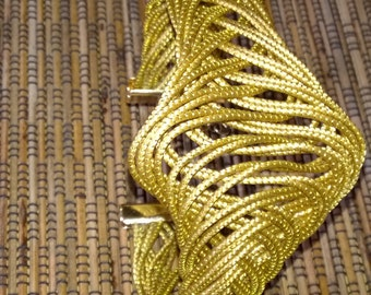 Bracelet Golden Grass braided
