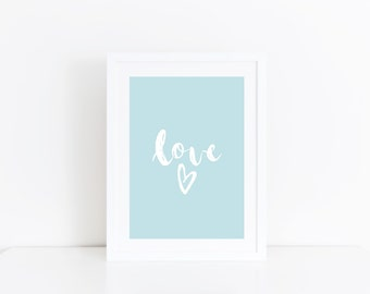 Love Print Boys Nursery Wall Art Print Boys Room Decor Baby Boy Nursery Print Blue Nursery Wall Art Baby Boy Gift Nursery Poster