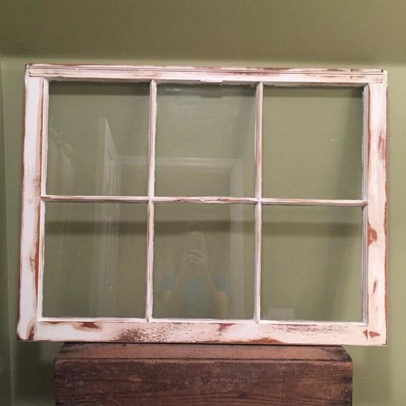 vintage six pane window with glass 6 pane window white window frame wood