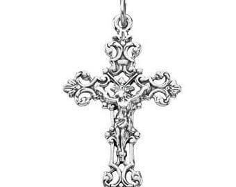 Crucifix Pendant sterling silver