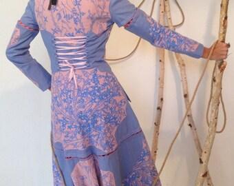 Victorian Steampunk Waistcoat/Skirt. Art Deco Art Nouveau Reversible Coat.Original Screen Print Art Deco Nudes Vines Building.Made To Order