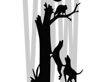 Coon Hunter Cutting Files Silhouette SVG, DXF and EPS vinyl cut Files, for Cameo and Cricut Explore machines