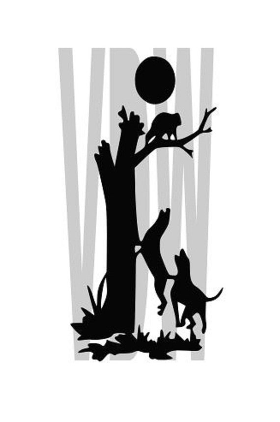 Coon Hunter Cutting Files Silhouette Svg Dxf And Eps Vinyl