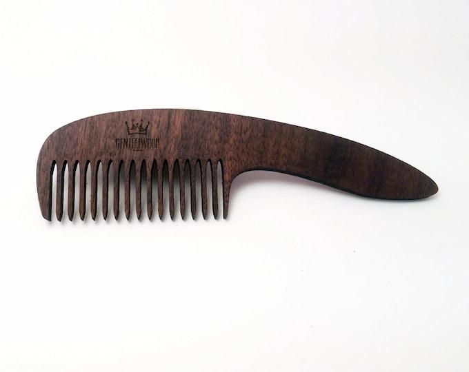 Walnut Handmade Wood Combs - Beard walnut combs - GenteelWood tiny combs - Minimalistic combs - Hair combs gift - Slim combs - Everyday use
