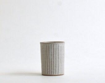 Shinogi Sake Cup (White), Made to order in 2 months; Koji Kitaoka (15005705-SW)