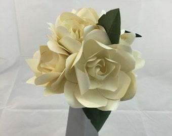 Gardenia Bouquet Metallic Paper