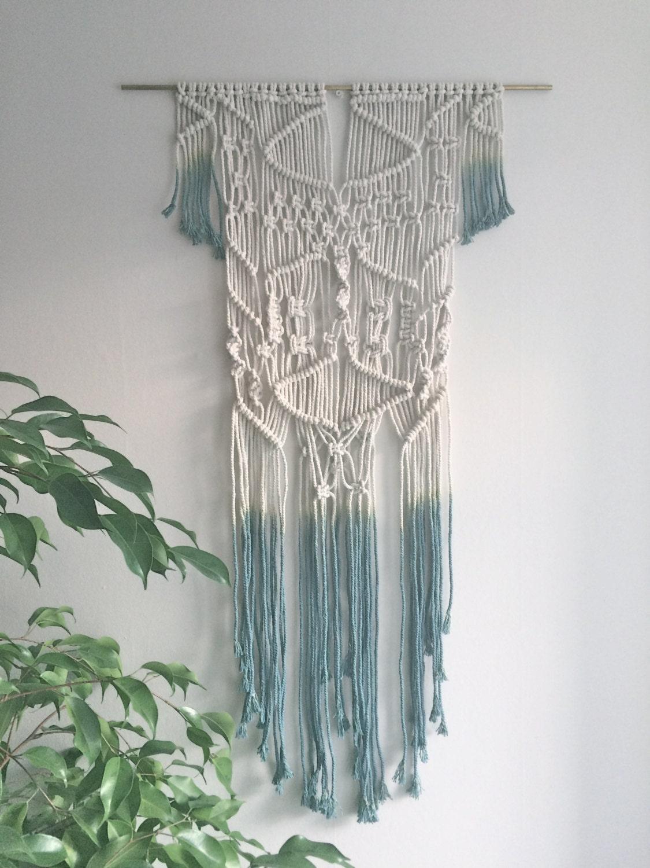 dip dyed macrame wall hanging macrame modern macrame wall